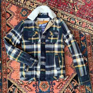 Superdry Lined Flannel Workshirt Jacket
